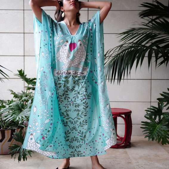 happiness-aqua-silk-kaftan-front