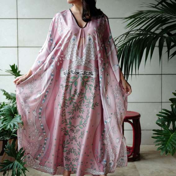 happiness-powder-pink-kaftan-front