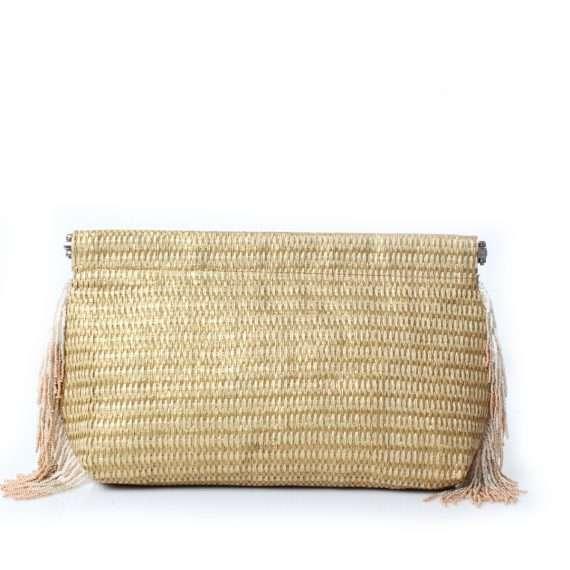 gold-straw-pompom-clip-bag-front