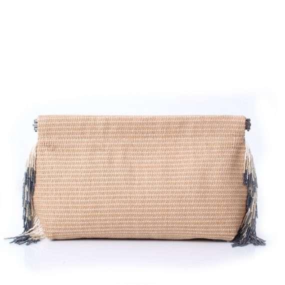straw-grey-pompom-clip-bag-front